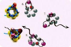 cordao de miçangas2 Orisha, Bead Crochet, Beading Tutorials, Beaded Jewelry, Projects To Try, Beads, Create, Pattern, Handmade