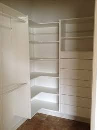 Image result for walk in closet corner shelves