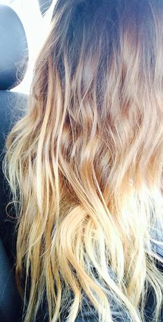 beachy waves + blonde ombre