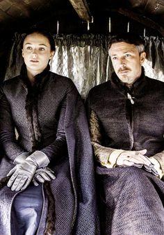 Petyr Baelish and Sansa Stark, Game of Thrones, season 5.