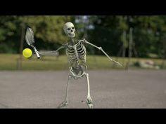 Skeleton Playing Tennis: Incredible CGI Animation - YouTube