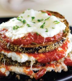 Spicy Eggplant Parmesan with Ricotta