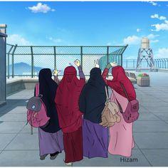 Always belong, until heaven Hijabi Girl, Girl Hijab, Muslim Girls, Muslim Couples, Lockscreen Hd, Hijab Cartoon, 3d Cartoon, Friend Cartoon, Islamic Cartoon