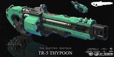 Sci Fi Weapons, Weapon Concept Art, Weapons Guns, Fantasy Weapons, Big Guns, Cool Guns, 101 Dalmatians Cartoon, Revolver Rifle, Survival Rifle