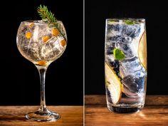 Gin & Tonic-drinkarna På myren och Under äppelträdet. Cocktail Drinks, Alcoholic Drinks, Cocktails, Gin Och Tonic, White Wine, Food And Drink, Healthy Eating, Tableware, Stockholm
