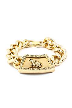 Golden Elephant Charm Bracelet <3