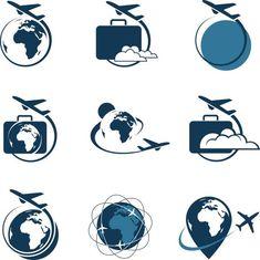 travel icon travel icon set with suitcase and airplane Logo Tourism, Travel Agency Logo, Travel Logo, Travel Usa, Free Travel, Turismo Logo, Icon Set, Photography Logos, Travel Photography