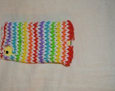 rainbow iPhone and iPod rainbow loom case with a spot for the charger and camera
