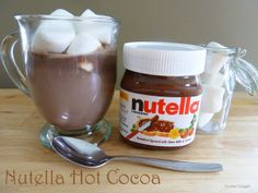 OH MY GOODNESS, MUST try this!!!  Nutella Hot Chocolate!  Mmmmmmm!