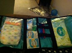 Thirty-One's Timeless Beauty Bag as a mini diaper bag!