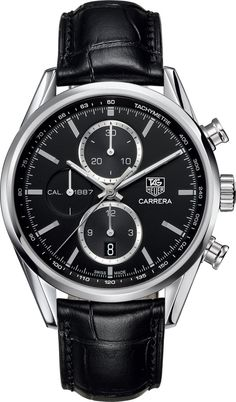 TAG Heuer Watch Carrera Chronograph #bezel-fixed #bracelet-strap-alligator #brand-tag-heuer #case-material-steel #case-width-41mm #chronograph-yes #date-yes #delivery-timescale-call-us #dial-colour-black #gender-mens #luxury #movement-automatic #official-stockist-for-tag-heuer-watches #packaging-tag-heuer-watch-packaging #subcat-carrera #supplier-model-no-car2110-fc6266 #warranty-tag-heuer-official-2-year-guarantee #water-resistant-100m