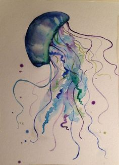 Image result for jellyfish tattoo designs watercolor