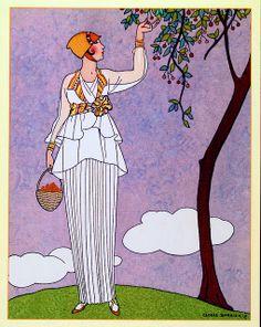 George Barbier (1882-1932) - French Art Deco Fashion Illustrator - 1914