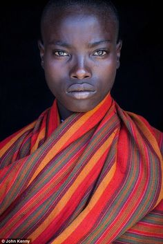 Some of the colours worn by the subjects like this girl are stunning