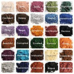 Younique's fabulous eye pigment colors. www.youniqueproducts.com/PalomaValenzuela