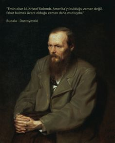 "Russian novelist, journalist, and philosopher, Dostoyevsky is rated as one of best writers of psychological literature. He is best known for ""Crime and Punishment"" and ""The Brothers Karamazov. Writers And Poets, Los Hermanos Karamazov, Dostoevsky Quotes, Notes From Underground, The Brothers Karamazov, Russian Literature, Modernist Literature, Russian Painting, Russian Art"