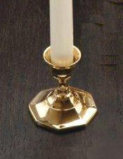 Flared Base Brass Taper Candle Holders, Set of 6