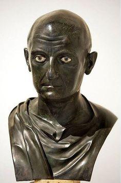 Scipio Africanus, Publius Cornelius Scipio Africanus, the roman general victor of the battle of Zama, which ended the Second Punic War in 202 B.C. from the Villa dei Papyri, Herculaneum. Museo Archeologico Nazionale, Naples