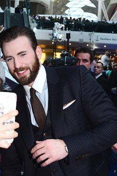 Chris Evans attends the Premiere of 'The Avengers: Age Of Ultron' at Westfield London on April 21, 2015 in London, England.