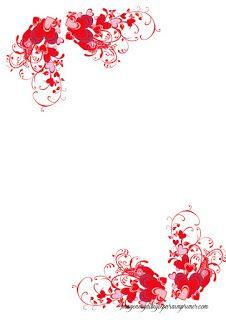hojas con corazones para imprimir
