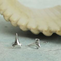Shark Teeth Stud Earrings  Lookin Sharp  in by KathrynRiechert, $24.00 earmarksocial