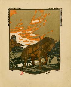 763: GUSTAVE BAUMANN - Original color woodcut : Lot 763