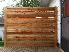 Cedar Privacy Screen for Existing Old Deck