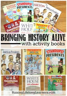 Bringing History Alive with Activity Books and Nonfiction Coloring Books - - When you let yourself relax, use activity books, or change things around from time to time, you end up bringing the learning alive for your kiddos. History Lesson Plans, World History Lessons, History For Kids, Study History, History Projects, History Books, History Activities, Teaching History, History Education