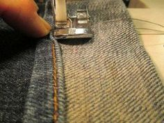 Hottest Pics How to Sew an Original Jean Hem Strategies I really like Jeans ! And even more I love to sew my own personal Jeans. Next Jeans Sew Along I' Fashion Fabric, Diy Fashion, Next Jeans, Sewing Courses, Sewing Hacks, Sewing Tips, Sewing Ideas, Sewing Projects, Free Sewing