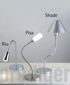 Top Light Flexlight Table / Chrom Pisa, Desk Lamp, Table Lamp, Shades, Lighting, Home Decor, Light Fixtures, Homemade Home Decor, Table Lamps