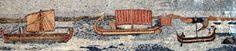 Phoenician Ships Natural Sea View Mosaic