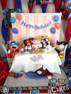 Best cake ever. (Avengers' Tea Party).