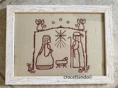 Nativity, Cross Stitch, Christmas Decorations, Frame, Wordpress, Cross Stitch Pictures, Dots, Needlepoint, Picture Frame