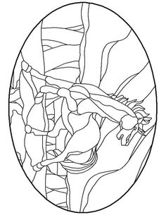 Stained Glass Patterns for FREE 012 horse.jpg