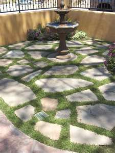 Find This Pin And More On Outdoor Living, Landscape, And Garden Ideas By  Grandmazw. Stone And Grass Patio Area