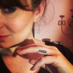 Aquarius sign finger tattoo #zodiac #ink #youqueen #girly #tattoos #Aquarius