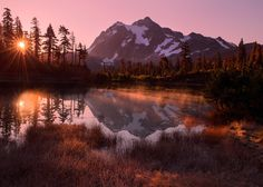 Picture Lake Sunrise (USA) by    Henrik Anker Bjerregaard |  Website |  Facebook