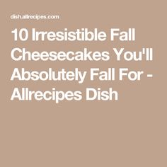 10 Irresistible Fall Cheesecakes You'll Absolutely Fall For - Allrecipes Dish