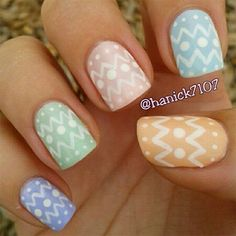 I am showcasing easy Easter theme egg nail art designs & ideas of I hope you would love the collection. Make cute and colorful eggs on nails to give Easter glimpses on that day. Easter Nail Designs, Easter Nail Art, Holiday Nail Designs, Cool Nail Designs, Holiday Nails, Cute Nails, Pretty Nails, Edgy Nails, American Nails