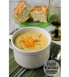 Cheesy Vegetable Chowder | www.tasteandtellblog.com