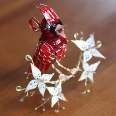 The Cardinal Ornament customizable by WeddingsAndWire on Etsy