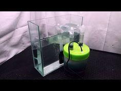 DIY external aquarium filter using a jar Diy Aquarium Filter, Rimless Aquarium, Goldfish Tank, Mini Waterfall, Saltwater Aquarium, Tropical Fish, Tool Kit, Lava Lamp, Pet Supplies