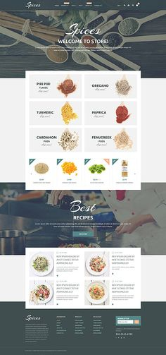 Stunning Website Themes for Selling Herbs and Spices on Shopify - Spice Of Life (Shopify theme) Item Picture Magento Design, Web Design Software, Spice Shop, Ecommerce Template, Website Themes, Food Themes, Store Design, Brand Design, Design Web