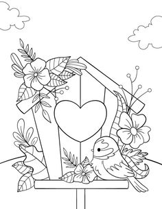 Free Adult Coloring Pages, Cute Coloring Pages, Free Coloring, Coloring Sheets, Coloring Books, Children Coloring Pages, Embroidery Patterns, Hand Embroidery, Art Drawings For Kids