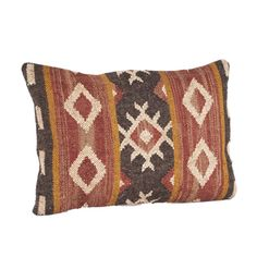 Kilim Design Down Filled Throw Pillow - Overstock™ Shopping - Great Deals on Throw Pillows