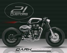 Royal Enfield Cafe Racer design by 21Customworks #motorcycles #caferacer #motos | caferacerpasion.com Cafe Racing, Cafe Racer Motorcycle, Bobber Custom, Custom Bikes, Royal Enfield, Moto Cafe, Motorbikes, Motorcycles, Lovers