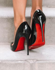 Christian Louboutin OFF!>> Patent Leather Christian Louboutin So Kate Heels Outfits, Shoes Heels Boots, Shoes Sneakers, Shoes Sandals, Louboutin Shoes Women, Black Louboutin Heels, Black Stilettos, Red Heels, Look Fashion