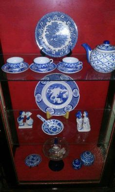 Dishes in curio