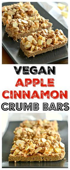 Made with almond & oats, warm, juicy apples and sweetened with cinnamon these Apple Cinnamon Crumb Barsdouble as an anytime snack bar or holiday dessert. Gluten Free + Vegan