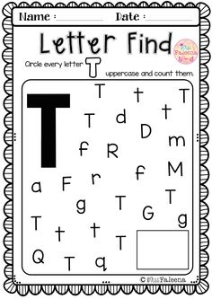 This set contains pages of variety activities games and worksheets. This product will help to teach your students to recognize read write solve and listen for the beginning sound of that letter. Letter T Worksheets, Letter T Activities, Kindergarten Worksheets, Preschool Activities, Letter T Words, Letter Find, Letter Of The Week, Teaching Letters, Preschool Letters